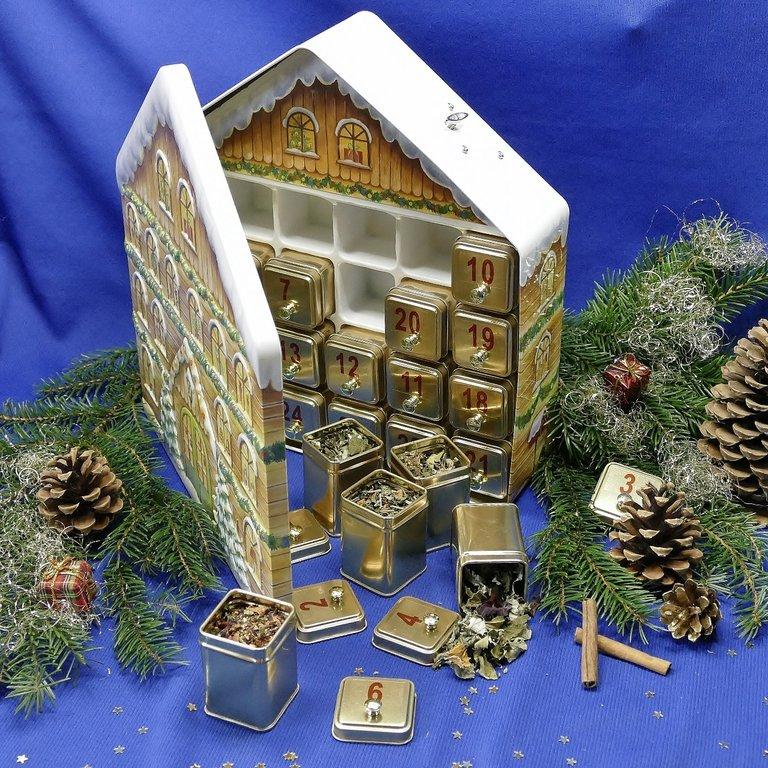 weihnachtskalender teehaus tee und geschenke aus dem. Black Bedroom Furniture Sets. Home Design Ideas